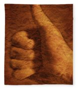 Hand With Thumbs Up Sign Fleece Blanket