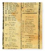 Handbill: Casualties, 1775 Fleece Blanket