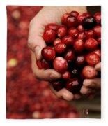 Handful Of Fresh Cranberries Fleece Blanket