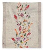 handmade paper from Madagascar 2 Fleece Blanket