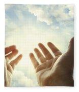 Hands In Sky Fleece Blanket