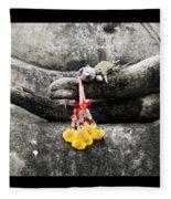 Hands Of Buddha Fleece Blanket