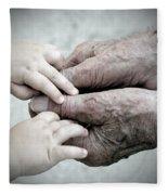 Hands Of Time Fleece Blanket