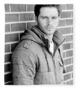 Handsome Man Fleece Blanket