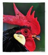 Handsome Rooster Fleece Blanket