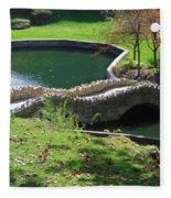 Hanging Garden In Indiana Fleece Blanket