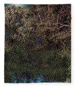Hanging Garden In Moonlight Fleece Blanket