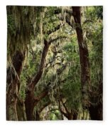 Hanging Moss And Giant Oaks Fleece Blanket