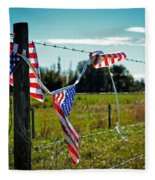 Hanging On - The American Spirit By William Patrick And Sharon Cummings Fleece Blanket