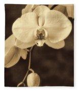 Hanging Orchid Fleece Blanket