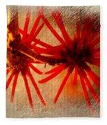 Hanging Spider Blooms Fleece Blanket