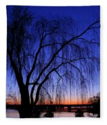 Hanging Tree Sunrise Fleece Blanket