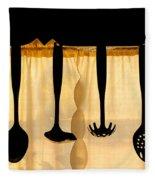 Hanging Utensils 2 Fleece Blanket