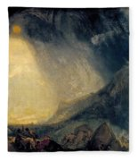 Hannibal And His Army Crossing The Alps Fleece Blanket