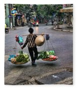 Hanoi Street Life II Fleece Blanket