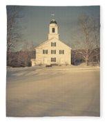 Hanover Center Church Etna New Hampshire Fleece Blanket