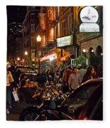 Hanover Street Nights - Boston Fleece Blanket