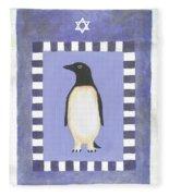 Hanukka Penguin Three Fleece Blanket