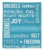Hanukkah Fun Fleece Blanket