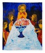 Hanukkah Menorah Fleece Blanket