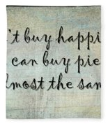 Happiness Is Some Warm Pie Fleece Blanket