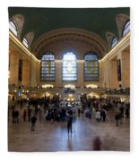 Happy 100th Birthday Grand Central Terminal Fleece Blanket