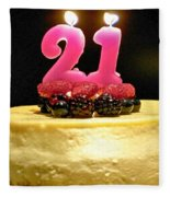 Happy 21st Birthday Fleece Blanket