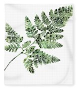 Happy Adventure Music Fern Fleece Blanket