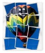 Happy Balloon Ride Fleece Blanket