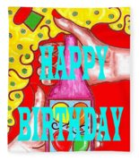 Happy Birthday 1 Fleece Blanket