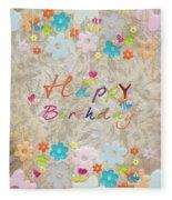 Happy Birthday 2 Fleece Blanket
