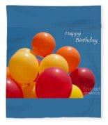Happy Birthday Balloons Fleece Blanket