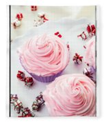 Happy Birthday Cupcakes Fleece Blanket
