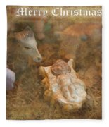 Happy Birthday Jesus Fleece Blanket