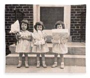 Happy Birthday Retro Photograph Fleece Blanket