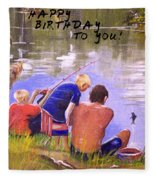 Happy Birthday To You Fleece Blanket