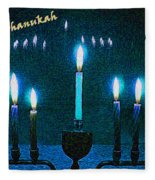 Happy Chanukah Fleece Blanket