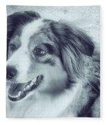Happy Dog Fleece Blanket