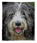 Happy Dog Fleece Blanket