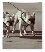 Happy Dogs 14 Fleece Blanket