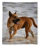 Happy Dogs 5 Fleece Blanket