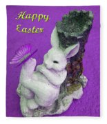Happy Easter Card 4 Fleece Blanket