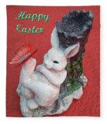 Happy Easter Card 5 Fleece Blanket
