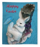 Happy Easter Card 7 Fleece Blanket