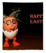 Happy Easter Greeting Card. Funny Eggmen Series Fleece Blanket