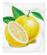 Happy Grapefruit- Irina Sztukowski Fleece Blanket