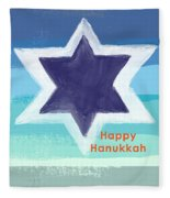 Happy Hanukkah Card Fleece Blanket