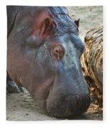 Happy Hippo Fleece Blanket