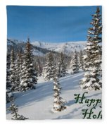 Happy Holidays - Winter Wonderland Fleece Blanket