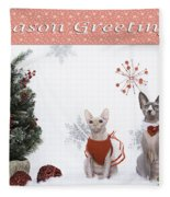 Happy Holidays 105 Fleece Blanket